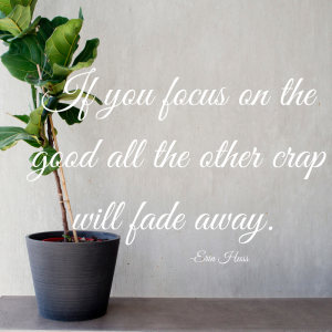 If you focus on the good only the bad will fade away.-2